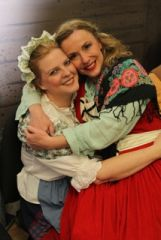 With my best friend Brenda, in a different production of Young Frankenstein