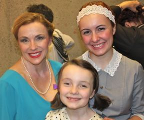 Me as Grace in Annie, with my daughters Genevieve, who danced in the ensemble, and Adelaide, who played an orphan. We had a ball!