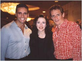 With model/actor/screenwriter John DeSalvo, who is on the cover of The Rose and The Warrior, and singer/actor Lance Taubold, who performs at The Paris in Las Vegas