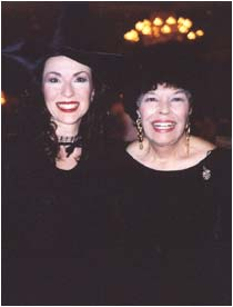 WWith author Virginia Henley, all dressed in black for the Vampire Ball!